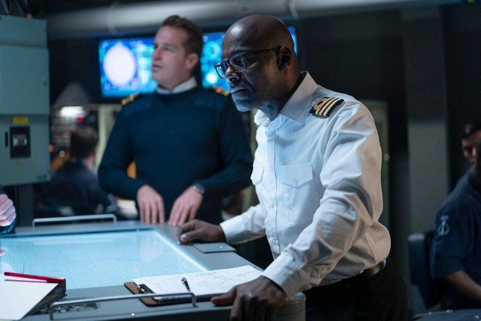 Paterson Joseph as Vigil's captain, Newsome - probably trying to divert a major crisis (BBC/World Productions)