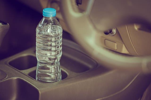 Bottled water was left in car for a long time
