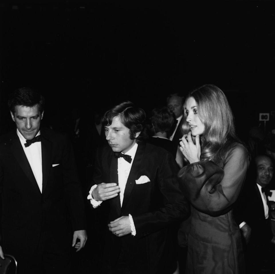 <p>Sharon Tate rocked a sheer black gown with puffy sleeves during the 1968 Golden Globes. </p>