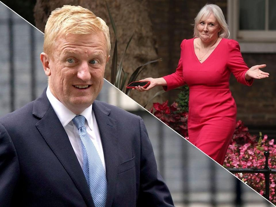 The public will be hearing much more from Oliver Dowden and Nadine Dorries after the reshuffle  (PA/Getty)