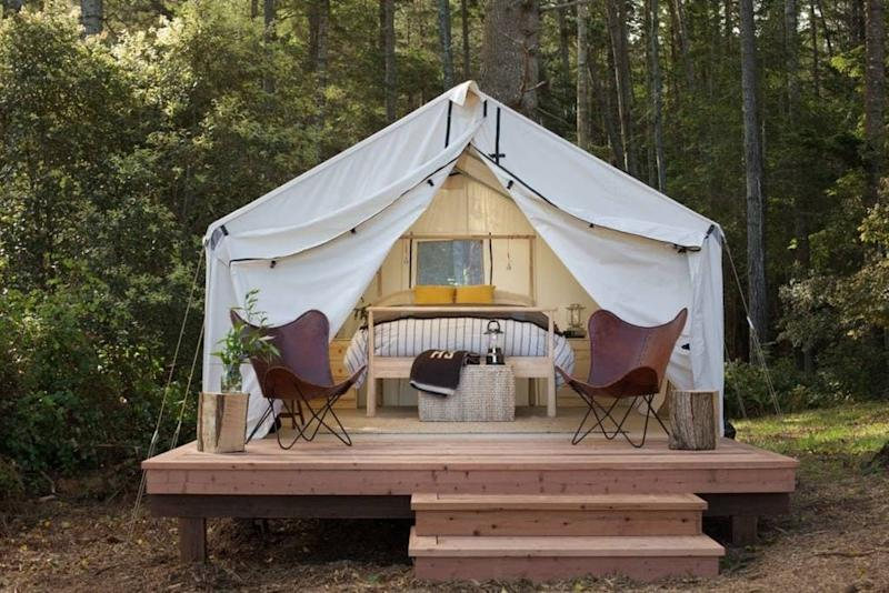airbnb bluff view glamping