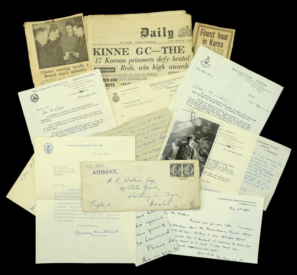Also being sold are letters and photographs relating to Lt Waters which had been kept by his family (Dix Noonan Webb/PA)