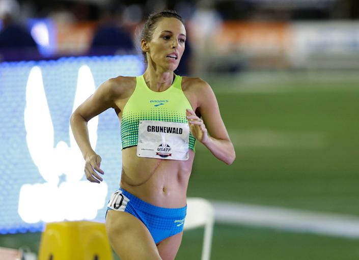 Gabriele Grunewald runs in the women's 1500 meters at the U.S. Track and Field Championships in June 2017. (Photo: ASSOCIATED PRESS)