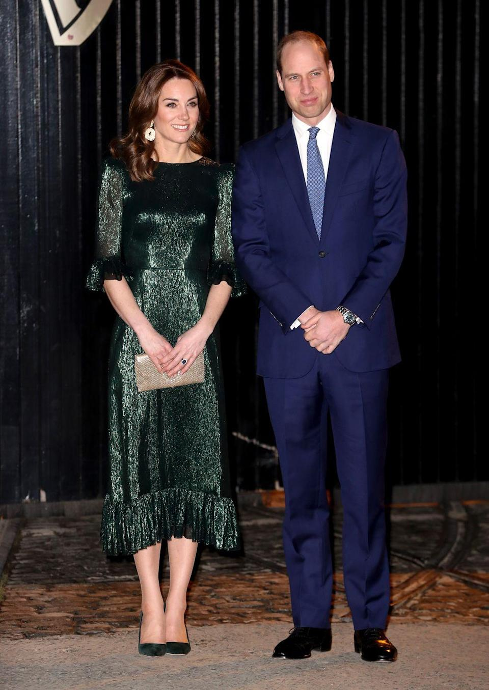 <p>The duchess stepped out in emerald ensemble by The Vampire's Wife while visiting the Guinness Storehouse with Prince William in Dublin, Ireland. </p>