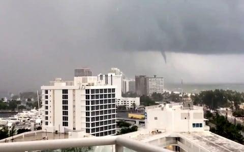And caused tornadoes off the coast - Credit: Reuters
