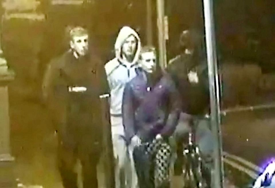 Chilling CCTV footage shows the gang making their way through Scarborough to where Solomon Robinson was murdered. (SWNS)