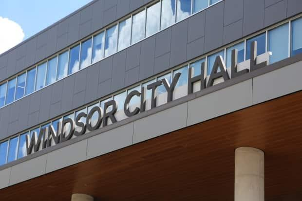 Windsor City Hall is shown in a file photo. City Council will vote Monday on whether to move forward with a new anti-racism initiative with the Multicultural Council of Windsor and Essex County. (Jonathan Pinto/CBC - image credit)