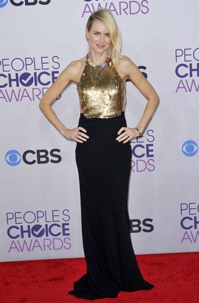 <b>Best dressed: Naomi Watts </b><br><br>The Impossible actress looked dazzling in a black and gold Alexander McQueen Resort 2013 gown with jewelled neckline.<br><br>Image © Rex