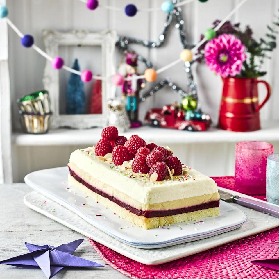 """<p>An impressive new way to serve a classic pud – worthy of a dinner party!</p><p><strong>Recipes: <a href=""""https://www.goodhousekeeping.com/uk/food/recipes/a29829274/trifle-layer-loaf/"""" rel=""""nofollow noopener"""" target=""""_blank"""" data-ylk=""""slk:Trifle Layer Loaf"""" class=""""link rapid-noclick-resp"""">Trifle Layer Loaf</a></strong></p>"""