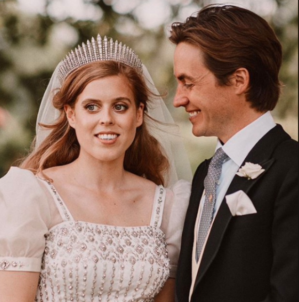 Princess Beatrice on her wedding day