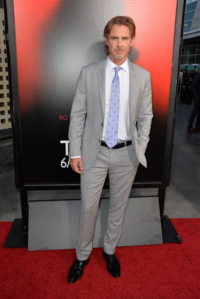 HOLLYWOOD, CA - JUNE 11: Actor Sam Trammell attends the premiere of HBO's 'True Blood' Season 6 at ArcLight Cinemas Cinerama Dome on June 11, 2013 in Hollywood, California. (Photo by Frazer Harrison/Getty Images)