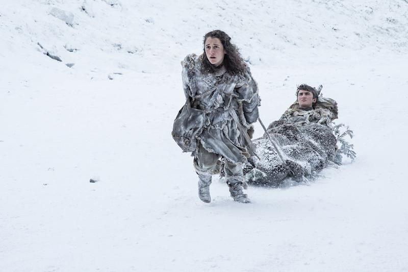 Ellie Kendrick and Isaac Hempstead Wright in Game of Thrones | Helen Sloan—HBO