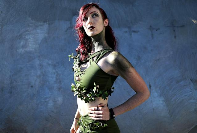 <p>Cosplayer dressed as Poison Ivy at Comic-Con International on July 19, 2018, in San Diego. (Photo: Mario Tama/Getty Images) </p>