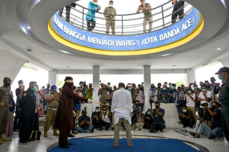 In Aceh, on the northern tip of Sumatra island, public flogging is a common punishment for a range of offences