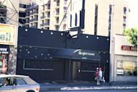 <p>The exterior of The Viper Room the morning after the death of actor River Phoenix on November 1, 1993 in Los Angeles, California.</p>