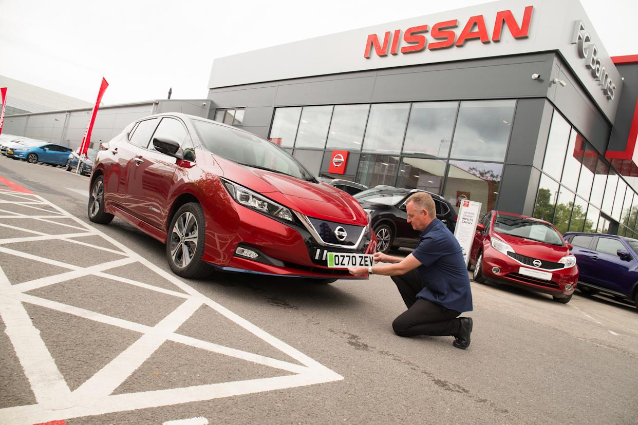 The new 70 registration plates are released on Tuesday (Nissan/PA)