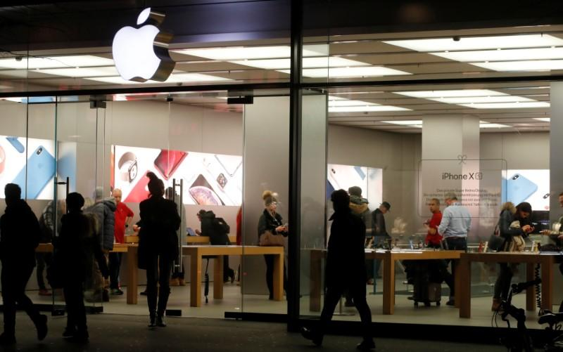 FILE PHOTO: An Apple store is seen in Zurich