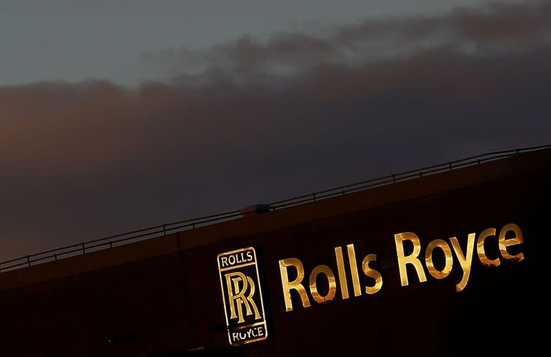 FILE PHOTO - The setting sun reflects on a building at Rolls-Royce in Derby