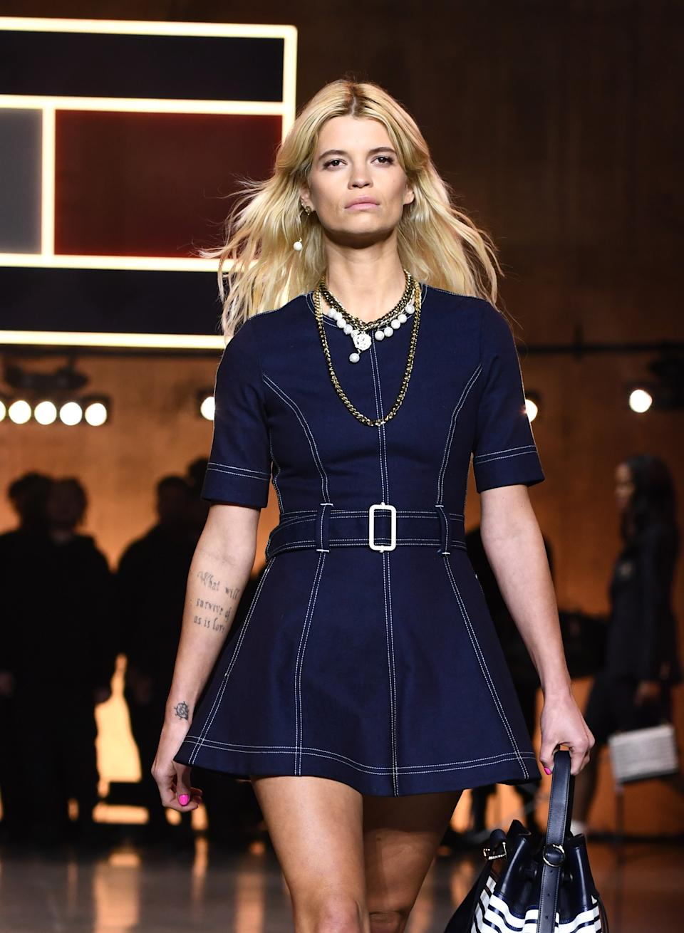 Pixie Geldof walks the runway at the Tommy Hilfiger show during London Fashion Week. (Getty Images)