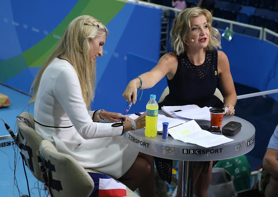 Helen Skelton was interviewing a male back in 2014, pictured here during Olympics coverage in 2016 [Photo: Getty]