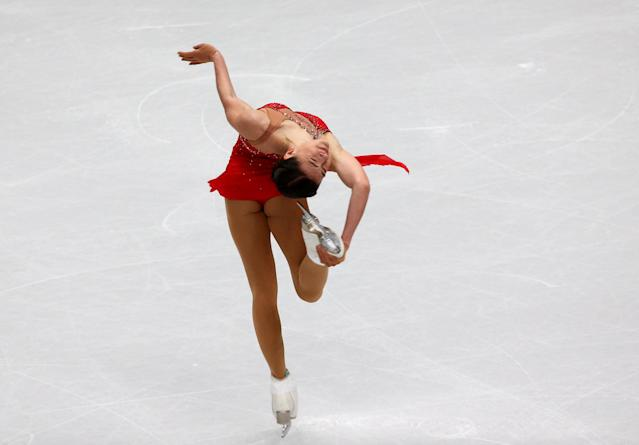 Figure Skating - World Figure Skating Championships - The Mediolanum Forum, Milan, Italy - March 21, 2018 Russia's Stanislava Konstantinova during the Ladies Short Programme REUTERS/Alessandro Bianchi