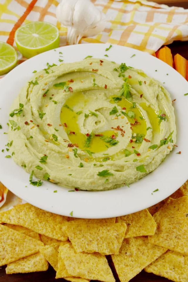 "<p><span>It's like the best of hummus and guacamole combined.</span></p><p>Get the recipe from <a rel=""nofollow"" href=""http://www.delish.com/cooking/recipe-ideas/recipes/a58255/avocado-hummus-recipe/"">Delish</a>.</p><p><strong><em>BUY NOW: Food Processor, $115.50, <a rel=""nofollow"" href=""https://www.amazon.com/BLACK-DECKER-FP6010-Performance-Processor/dp/B00VHLXLZM/?tag=syndication-20&&ascsubtag=[artid"">amazon.com</a>.</em></strong></p>"
