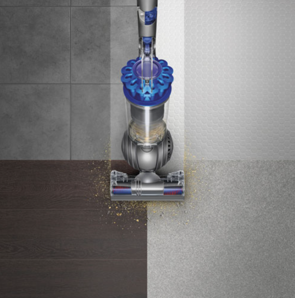 Dyson Ball Allergy+ Upright Bagless Vacuum on four floor surfaces