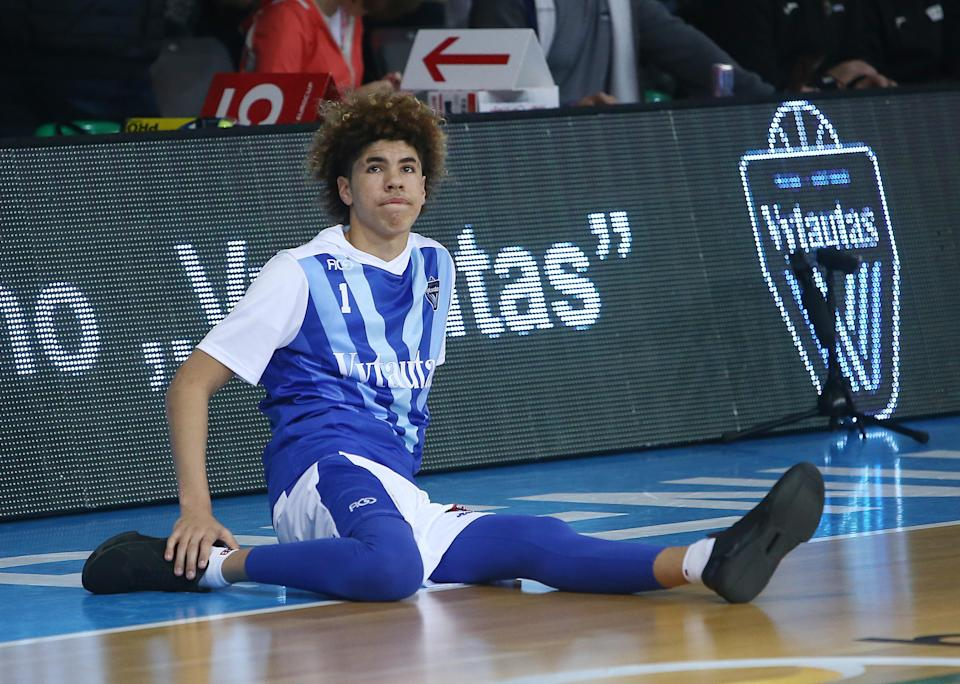Not everyone is excited about LaMelo Ball's return to amateur athletic competition. (Getty Images)