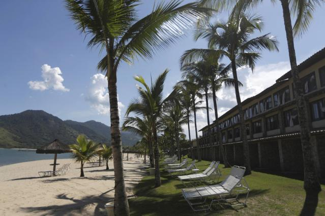 Rooms (R) facing the beach at the Portobello Resort, where the Italy soccer team will be based during the 2014 World Cup, are pictured in Mangaratiba, March 11, 2014. REUTERS/Ricardo Moraes (BRAZIL - Tags: SPORT SOCCER WORLD CUP)
