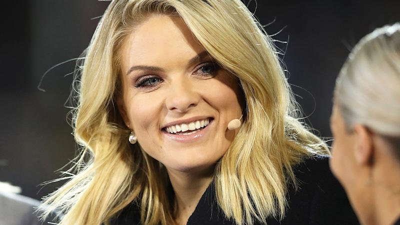 Erin Molan, pictured here in action for Channel Nine.