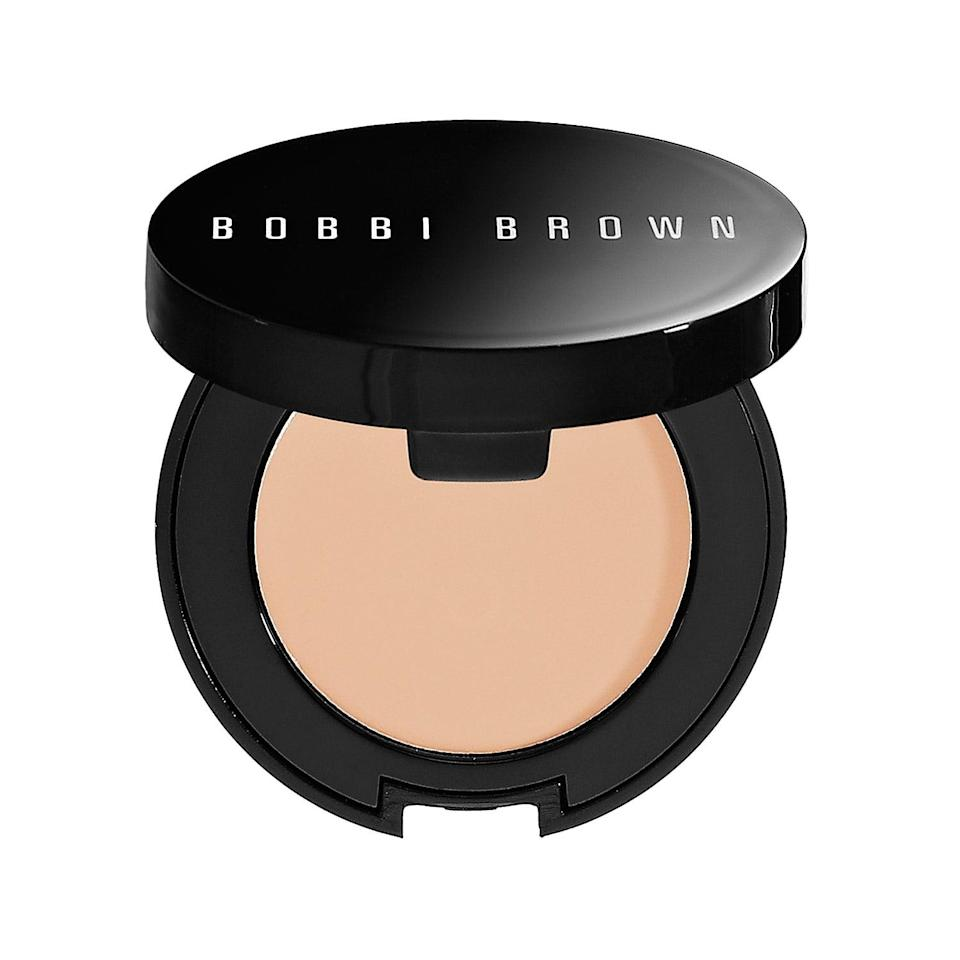 "<p>If your eyes are the problem spot, the waterproof <a href=""https://www.popsugar.com/buy/Bobbi-Brown-Under-Eye-Corrector-573260?p_name=Bobbi%20Brown%20Under%20Eye%20Corrector&retailer=sephora.com&pid=573260&price=29&evar1=bella%3Aus&evar9=47465079&evar98=https%3A%2F%2Fwww.popsugar.com%2Fbeauty%2Fphoto-gallery%2F47465079%2Fimage%2F47465083%2FBobbi-Brown-Under-Eye-Corrector&list1=sephora%2Cconcealer%2Cbeauty%20shopping&prop13=mobile&pdata=1"" class=""link rapid-noclick-resp"" rel=""nofollow noopener"" target=""_blank"" data-ylk=""slk:Bobbi Brown Under Eye Corrector"">Bobbi Brown Under Eye Corrector</a> ($29) hides dark circles in a range of blendable shades with either pink undertones (if your discoloration is purple, blue, or reddish) or peach undertones (to neutralize light brown, grey, and greenish ones).</p>"