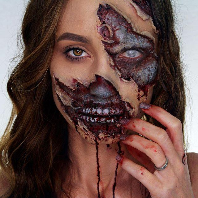 "<p>Nothing is more terrifying than the walking dead. This makeup tutorial shows you how to make it look like the real(ish) thing. <br></p><p><a class=""link rapid-noclick-resp"" href=""https://www.amazon.com/Mehron-Makeup-Premium-Character-Zombie/dp/B00454XPHW?tag=syn-yahoo-20&ascsubtag=%5Bartid%7C10055.g.2599%5Bsrc%7Cyahoo-us"" rel=""nofollow noopener"" target=""_blank"" data-ylk=""slk:SHOP ZOMBIE MAKEUP KIT"">SHOP ZOMBIE MAKEUP KIT</a></p><p><a href=""https://www.instagram.com/p/Byndk5vhRSl/&hidecaption=true"" rel=""nofollow noopener"" target=""_blank"" data-ylk=""slk:See the original post on Instagram"" class=""link rapid-noclick-resp"">See the original post on Instagram</a></p>"