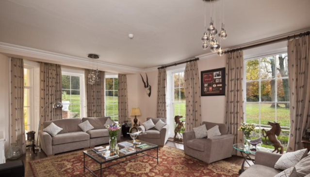 One of the reception rooms in the seven-bedroom property. (Rightmove)