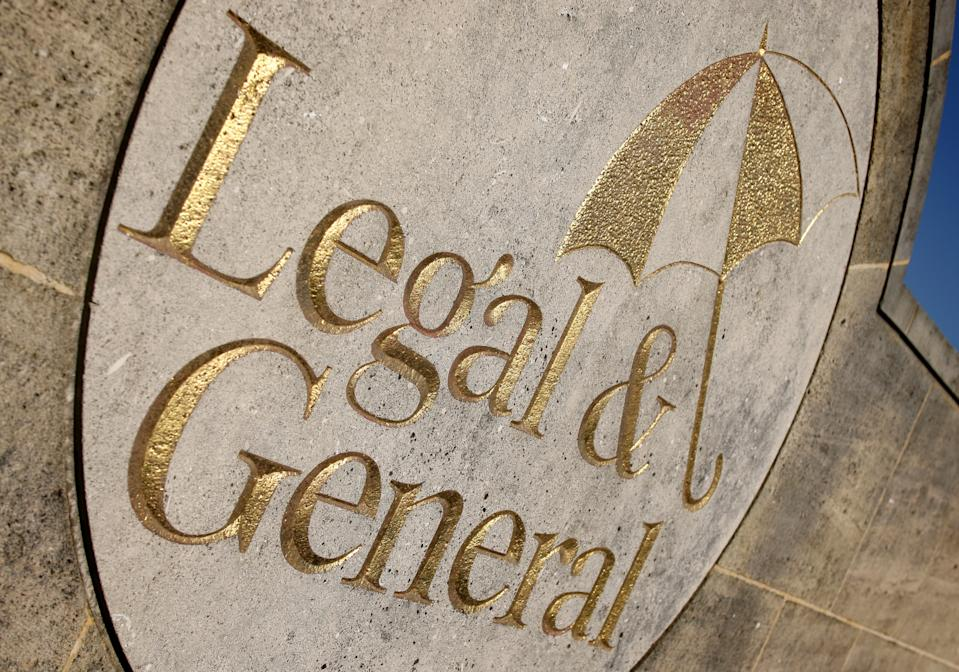 General view of a sign at the offices of Legal and General, in Kingswood, Surrey.