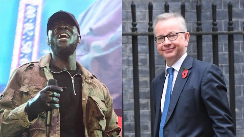Michael Gove accused of 'sanctioning stereotypes' after tweeting Stormzy lyrics