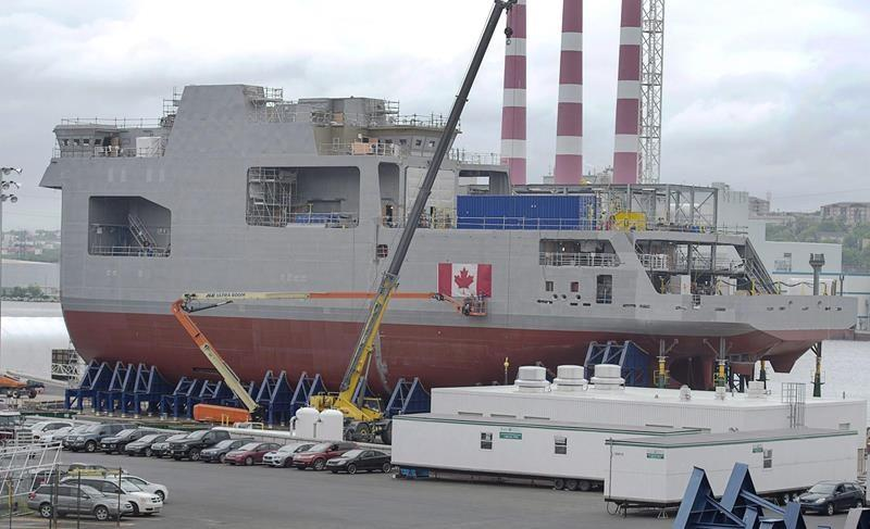 Delivery of the navy's first Arctic and offshore patrol ship delayed until 2020