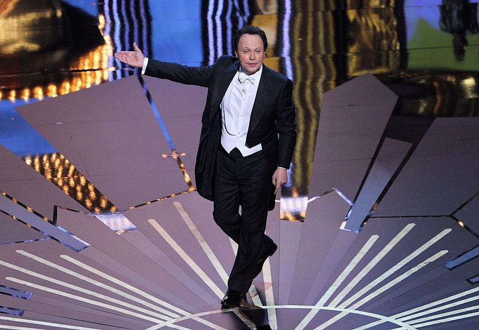 <p>The When Harry Met Sally star has hosted the Oscars nine times, the second most of any host after Bob Hope - who was a regular, hosting the Academy Awards 19 times. </p><p>One of his most popular features as host, which he did twice both in 2000 and 2004, was 'What The Stars Are Thinking' where he imagined the internal thoughts of stars like, Jack Nicholson ('you know what? I'm still the coolest guy in the room'.)</p>