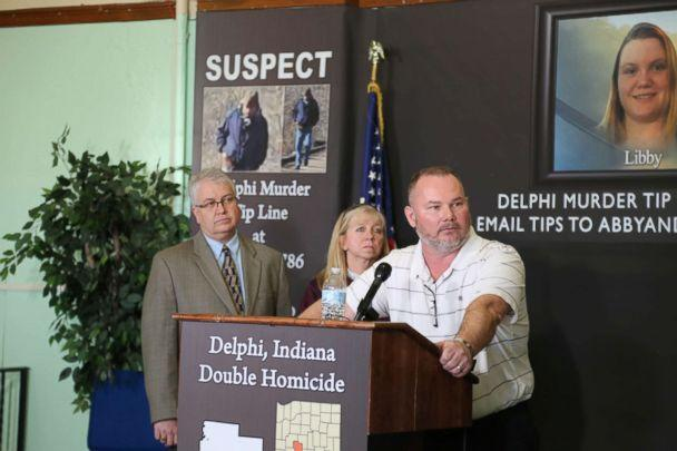 PHOTO: Mike Patty, grandfather of slain teenager Libby German, speaks to reporters in Delphi, Ind., March 9, 2017. (Lindsey Jacobson/ABC News)