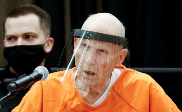 PHOTO: Former police officer Joseph James DeAngelo Jr. speaks at the Sacramento County courtroom during a hearing on crimes attributed to the Golden State Killer, in Sacramento, Calif., June 29, 2020. (Fred Greaves/Reuters)