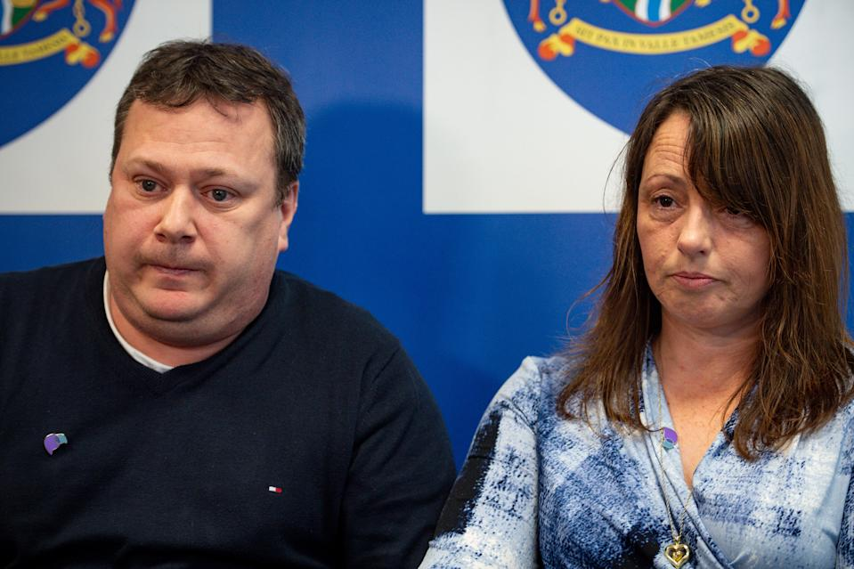 John and Claire Croucher appealed for information on missing daughter Leah a year after her disappearance (Picture: PA)