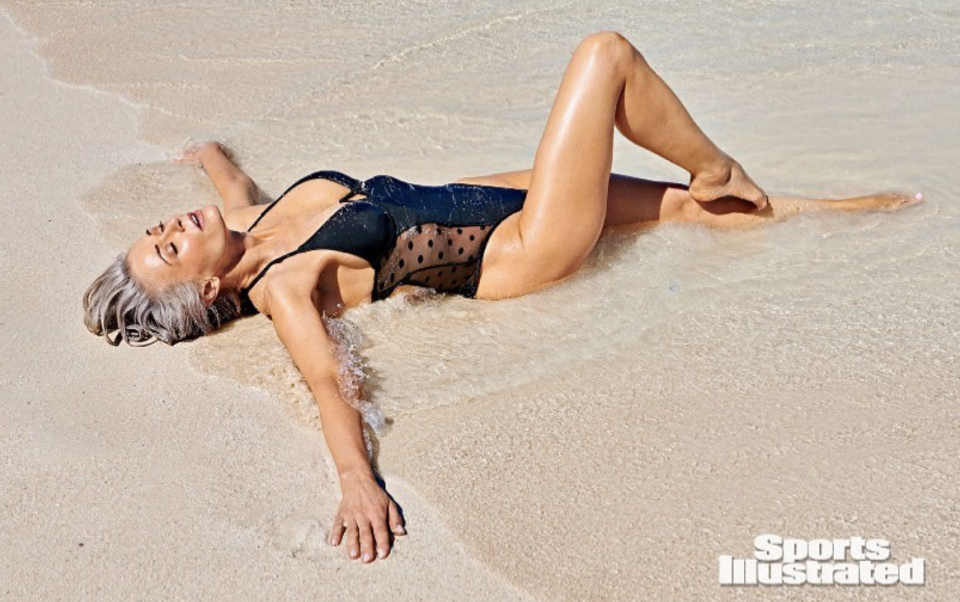 Kathy Jacobs is making her Sports Illustrated Swimsuit debut at 57 years old. (Photo: Instagram/Sports Illustrated)