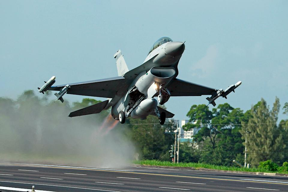 File photo of an F-16 fighter jet  (Copyright 2019 The Associated Press. All rights reserved.)