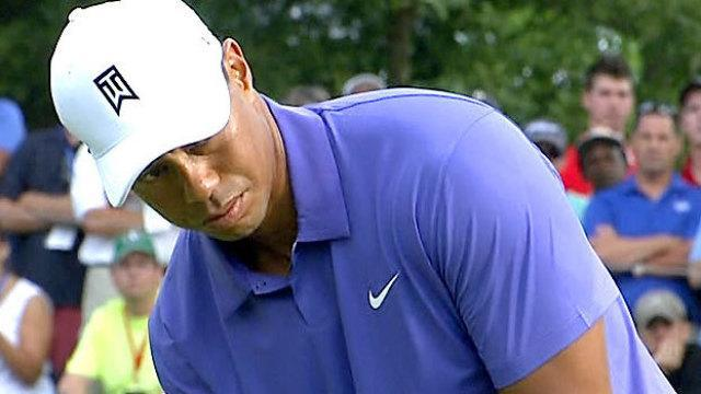Tiger Woods will have to scramble to make cut after rough first round at PGA Championship