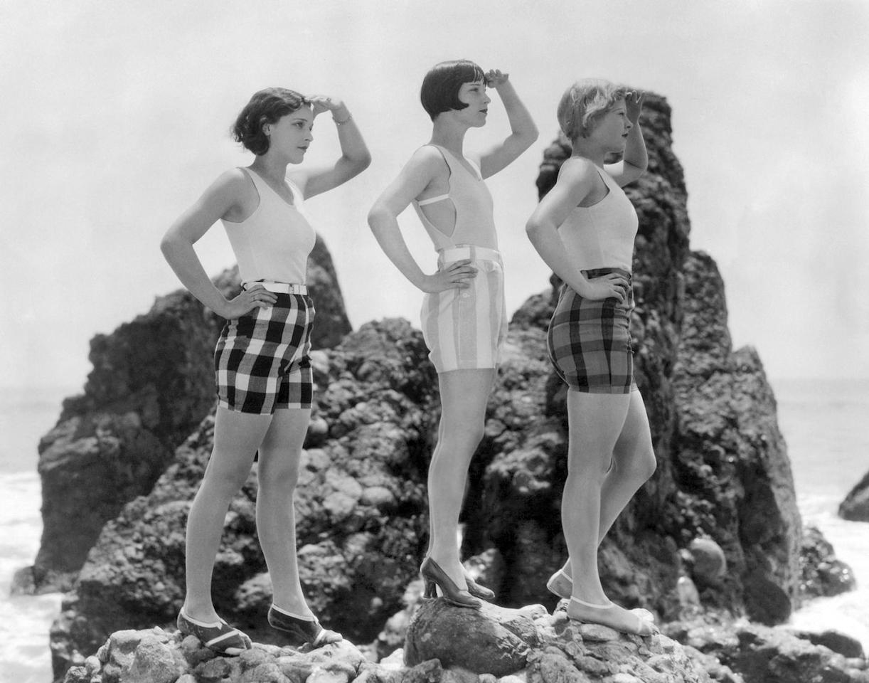 <p>When in doubt, high-waisted shorts and a tank top or one-piece are always an effortless go-to for summer, as perfected in the summers of the '20s. </p>