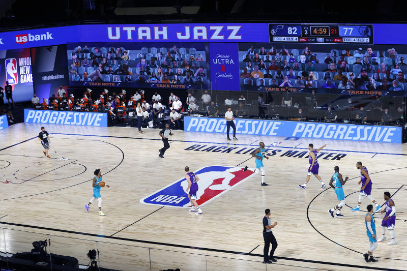 The NBA is discussing plans for the 2020-21 season that include regional bubble sites, according to multiple reports. (Photo by Kevin C. Cox/Getty Images)