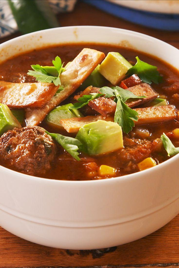 "<p>The Italian-Mexican blend your body needs.</p><p>Get the recipe from <a href=""https://www.delish.com/cooking/recipe-ideas/a26424646/tex-mex-meatball-soup-recipe/"" rel=""nofollow noopener"" target=""_blank"" data-ylk=""slk:Delish"" class=""link rapid-noclick-resp"">Delish</a>.</p>"