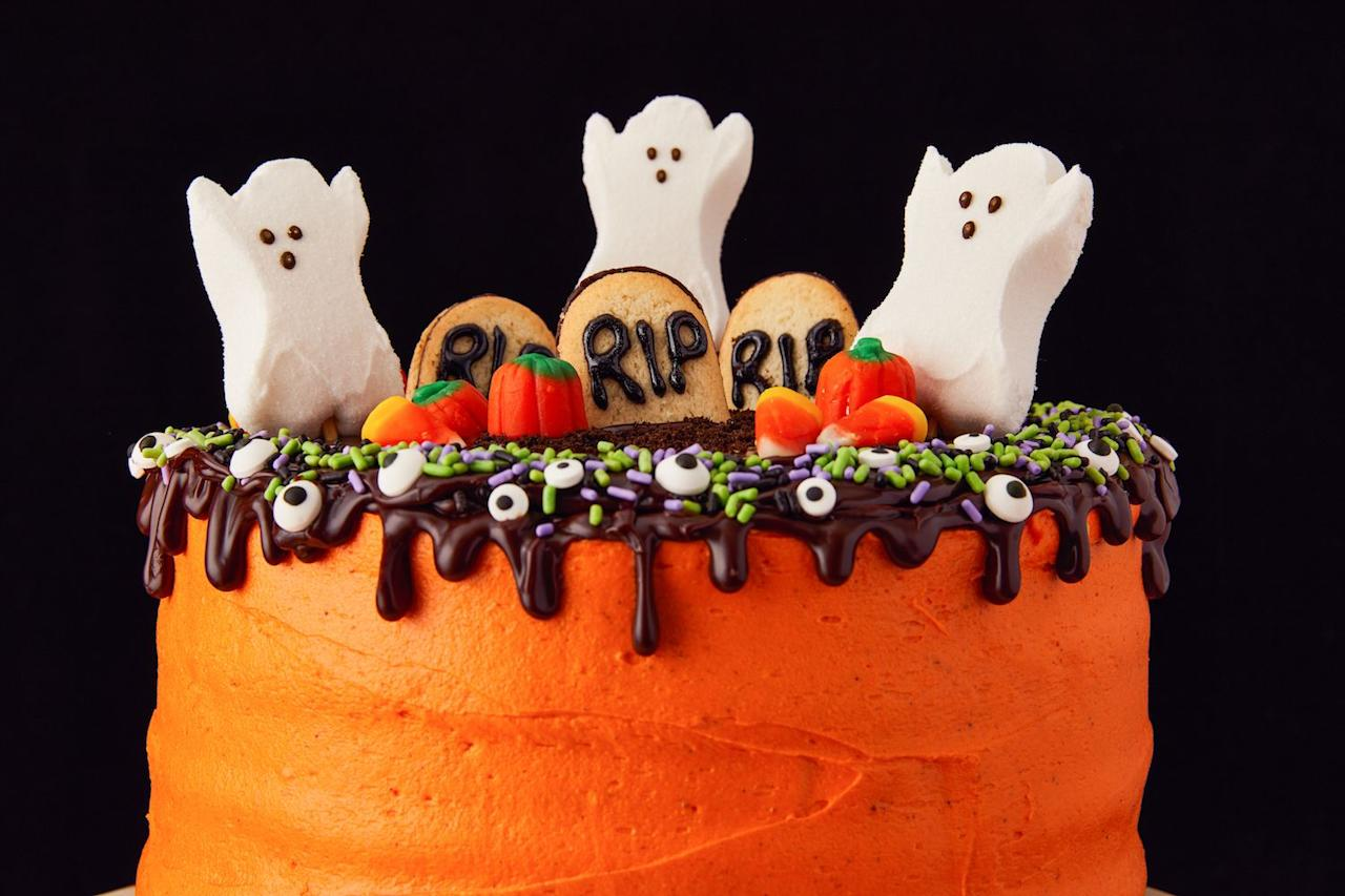"<p>We know Halloween is all about the candy, but that doesn't mean you can't have your cake and eat it, too. These easy recipes are fun to bring to parties or just have around the house as you gear up for Hallow's Eve. Don't stop there, delight little ghouls with <a href=""/holiday-recipes/halloween/g2172/halloween-cake-cupcake-recipes/"">spooky-cute Halloween cupcakes</a>, celebrate <a href=""/holiday-recipes/halloween/g1335/dia-de-los-muertos-day-dead-party-foods/"">day of the dead</a> or and just enjoy a <a href=""/holiday-recipes/halloween/g1533/pumpkin-cakes/"">pumpkin that's really a cake</a>—all in our collection of <a href=""http://www.delish.com/holiday-recipes/halloween/"">fun Halloween foods</a>.</p>"