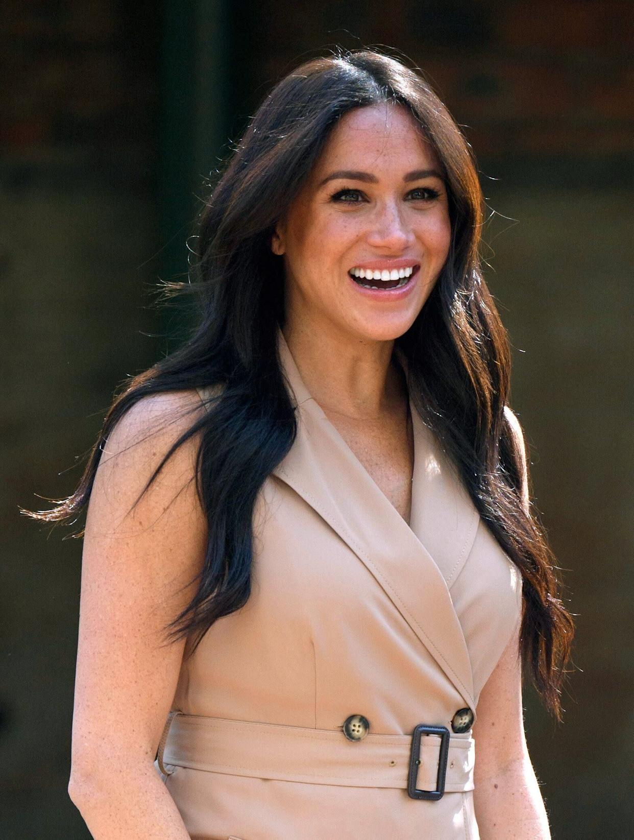 The Duchess of Sussex, patron of the Association of Commonwealth Universities, visits the University of Johannesburg in South Africa on Oct. 1. (Photo: Pool via Getty Images)