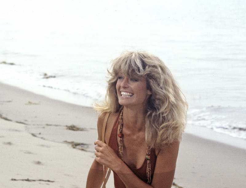 "UNITED STATES - SEPTEMBER 20: CHARLIE'S ANGELS - ""Angel Come Home"" - Season Three - 9/20/78 An old flame persuaded Jill (Farrah Fawcett) to drive a top-secret race car in the Grand Prix, and she joined the Angels to stop a murderer who wanted her out of the race. (Photo by Walt Disney Television via Getty Images Photo Archives/Walt Disney Television via Getty Images)"