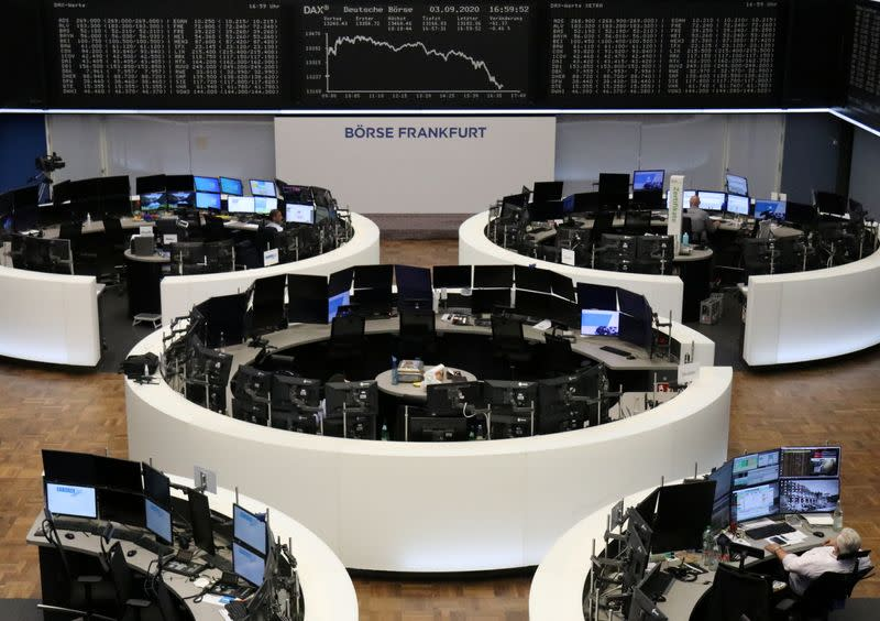 With big tech on holiday, world shares inch higher